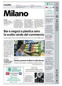 la Repubblica Milano - 7 Agosto 2018