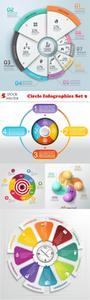 Vectors - Circle Infographics Set 9