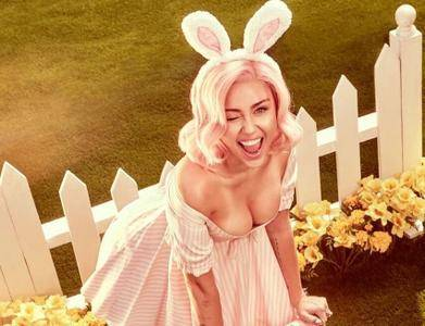 Miley Cyrus by Vijat Mohindra for Vogue's Easter Calendar 2018