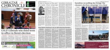 Gibraltar Chronicle – 18 October 2019