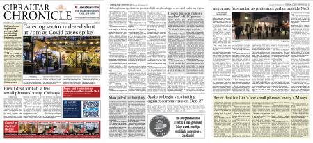 Gibraltar Chronicle – 19 December 2020