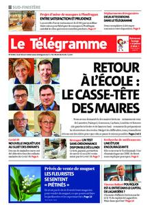 Le Télégramme Ouest Cornouaille – 30 avril 2020