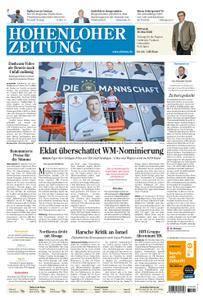 Hohenloher Zeitung Öhringen - 16. Mai 2018