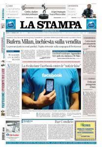 La Stampa Torino Provincia e Canavese - 13 Gennaio 2018