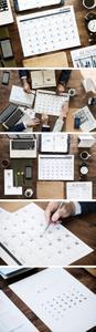 5 Business Agenda & Calendar Photos + PSD Mockups Templates
