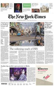 International New York Times - 27-28 April 2019