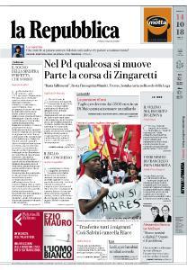 la Repubblica - 14 Ottobre 2018