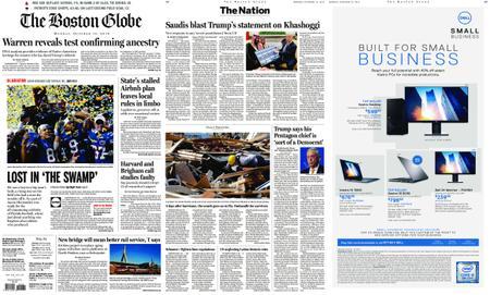 The Boston Globe – October 15, 2018