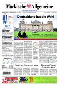 Märkische Allgemeine Zossener Rundschau - 23. September 2017