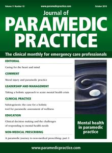 Journal of Paramedic Practice - October 2019