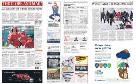 The Globe and Mail – August 21, 2017