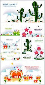 Stock Vectors - City and garden