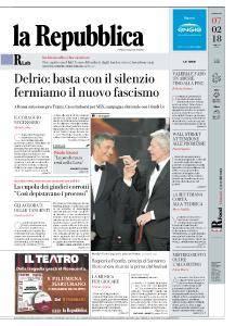 la Repubblica - 7 Febbraio 2018