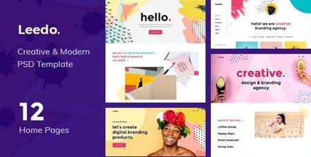 ThemeForest - Leedo - Modern, Colorful & Creative Portfolio PSD Template - 22257925