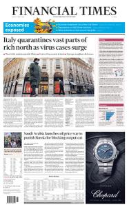 Financial Times Europe - March 9, 2020