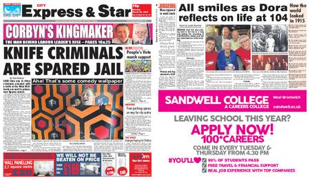 Express and Star City Edition – March 25, 2019