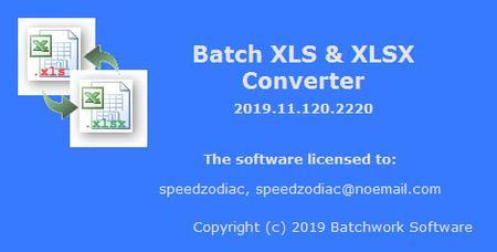 Batch XLS and XLSX Converter 2019.11.721.2260