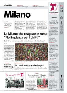 la Repubblica Milano - 1 Ottobre 2018