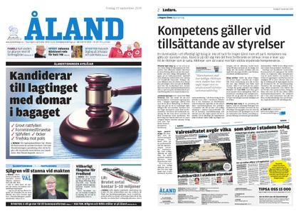Ålandstidningen – 27 september 2019