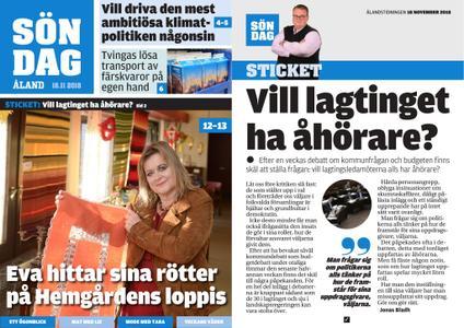 Ålandstidningen – 18 november 2018