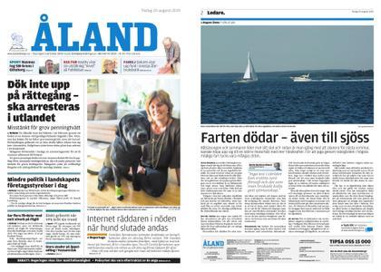 Ålandstidningen – 20 augusti 2019