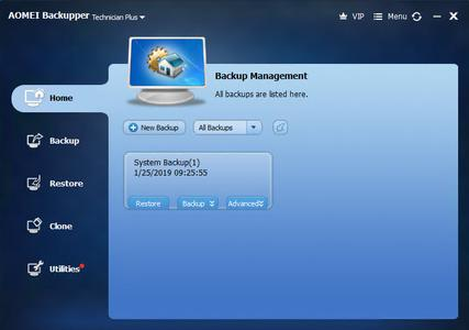 AOMEI Backupper All Editions WinPE Boot Legacy & UEFI v5.0.0