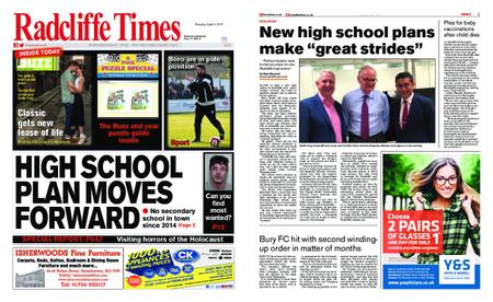 Radcliffe Times – April 04, 2019