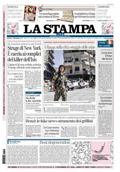 La Stampa - 2 Novembre 2017