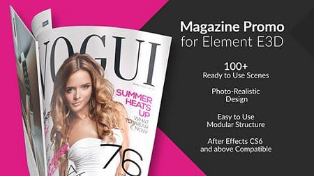 Magazine Promo for Element 3D - Project for After Effects (Videohive) 23030644