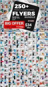 CreativeMarket - 250+ Flyers Bundle