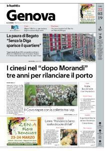 la Repubblica Genova - 22 Marzo 2019