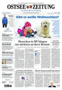 Ostsee Zeitung Wolgast - 12. Dezember 2017