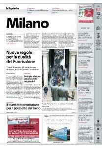 la Repubblica Milano - 3 Dicembre 2018