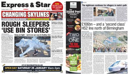Express and Star Sandwell Edition – January 21, 2020