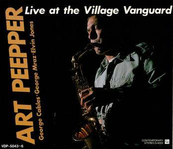 Art Pepper - Live At The Village Vanguard (1977) {4CD Set Contemporary-Victor Japan, VDP-5043~6, Early Press rel 1987}