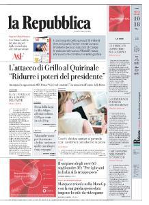 la Repubblica - 22 Ottobre 2018