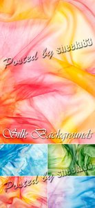 Stock Photo - Color Silk Backgrounds