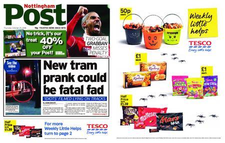 Nottingham Post – October 25, 2018