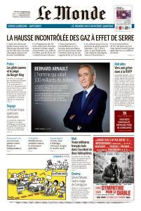 Le Monde du Mercredi 27 Novembre 2019