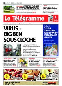 Le Télégramme Ouest Cornouaille – 22 décembre 2020