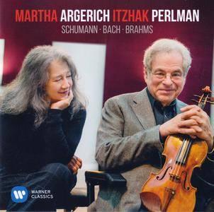 Martha Argerich & Itzhak Perlman - Schumann, Bach & Brahms (2016) {Warner Classics 0190295937898}