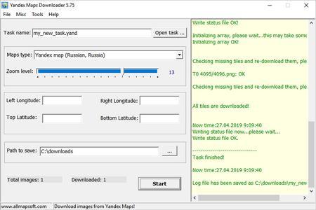 AllMapSoft Yandex Maps Downloader 5.76