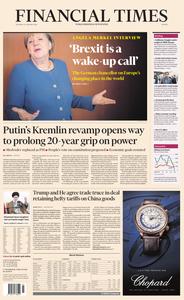 Financial Times Europe – 16 January 2020