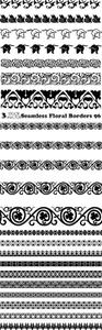 Vectors - Seamless Floral Borders 96