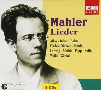 Janet Baker, Dietrich Fischer-Dieskau, Daniel Barenboim - Mahler: Lieder (2003) (5 CD Box Set)