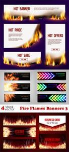 Vectors - Fire Flames Banners 3