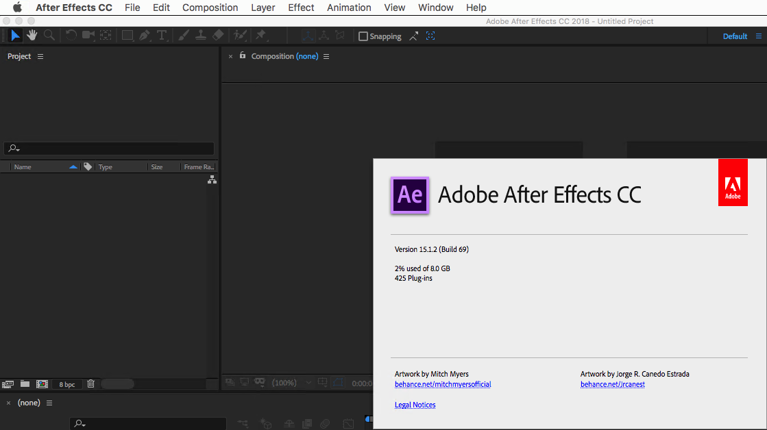 Adobe After Effects CC 2018 v15.1.2.69 macOS