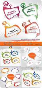 Talking around - stickers vector