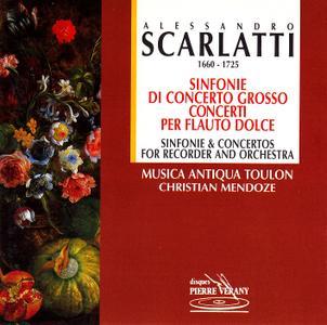 Christian Mendoze, Musica Antiqua Toulon - Scarlatti: Sinfonie di concerto grosso; Concerti per flauto dolce (1995)