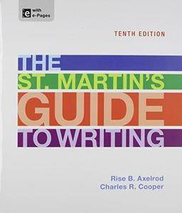 The St. Martin's Guide to Writing (10th edition) (Repost)